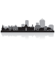 Montgomery Alabama city skyline silhouette vector image vector image