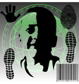 Global monitoring vector image