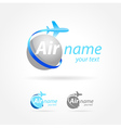 airplane emblem sign plane symbol vector image