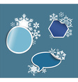 winter Labels stickers pointers tags vector image