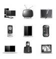 communication technology icons vector image vector image