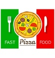 Italian pizza fast food vector image vector image