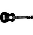 ukulele silhouette vector image vector image