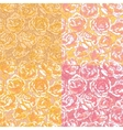 Set of four seamless pattern with pink roses vector image vector image