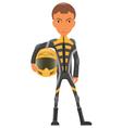 Cartoon sport bike rider vector image