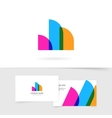 Abstract logo element of three rounded vector image