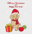 christmas new year greeting card or vertical vector image