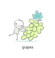 Grapes and people vector image