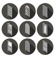 isometric set of flat icons doors vector image