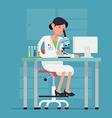 Lady Scientist Icon vector image