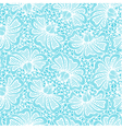 White seamless flower lace pattern vector image