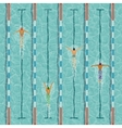 Swimmers in swimming pool vector image