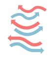 Color arrows flat design set vector image