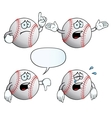 Crying baseball set vector image vector image