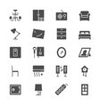 home furniture flat icons vector image vector image