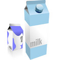 dairy produces collection in carton box milk vector image
