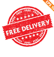 Stamp sticker free delivery collection - - vector image