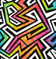 graffiti maze seamless pattern with grunge effect vector image