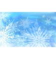 Beautiful background with snowflakes Happy vector image