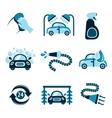 Car Wash Icons vector image