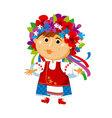 cartoon cute folk ukraine girl vector image