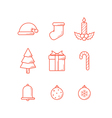 Christmas Icons Outline Expand vector image