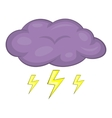Clouds and storm icon cartoon style vector image