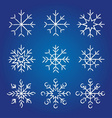 Decorative Snowflakes collection vector image