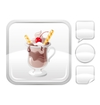 Dessert food icon with chocolate ice cream with vector image