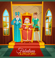 fabulous kingdom cartoon vector image