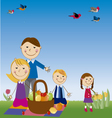 family in picnic vector image