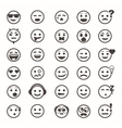 Great set of icons with smiley faces vector image