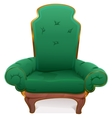Green armchair Cushioned furniture vector image