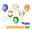 Happy Independence day of India design vector image