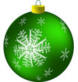 new year s green ball vector image