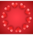Realistic Red Romantic Hearts Circle vector image