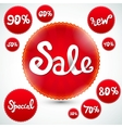 Red Discount Signs vector image