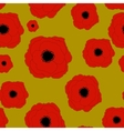 Red Poppies Flower Seamless Pattern Background vector image