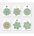 Set of 6 label with the mandala Collection vector image