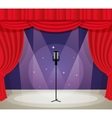 Stage with microphone vector image