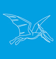 winged dinosaur icon outline style vector image