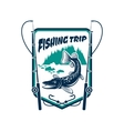 Fishing trip sport adventure club sign vector image