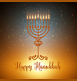 hanukkah background with menorah vector image
