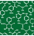 Organic chemistry structural formula pattern vector image