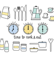 time to cook and eat flat icon vector image