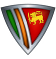 steel shield with flag sri lanka vector image vector image