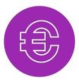 Euro symbol line icon vector image