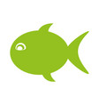 fish silhouette isolated icon vector image