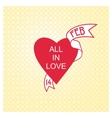 Just a beautiful Valentine card vector image