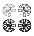 Set of black circular linear icons logos vector image